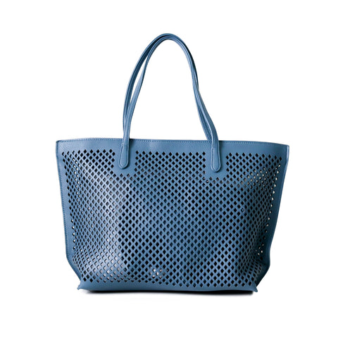 UBIKA DIAMOND CUT BLUE HANDBAG