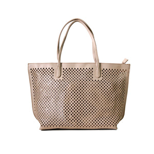 UBIKA DIAMOND CUT PEACH HANDBAG