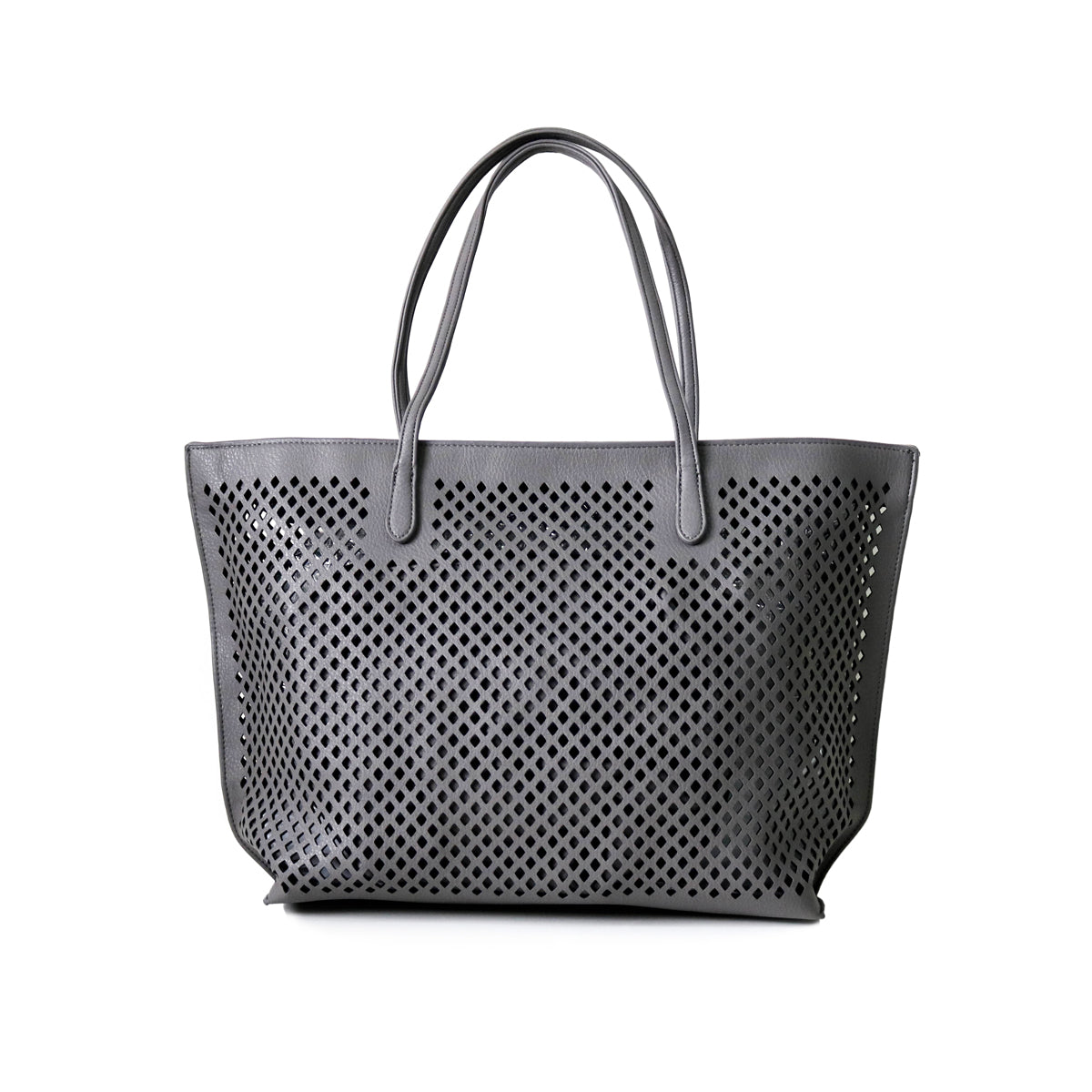 UBIKA DIAMOND CUT GREY HANDBAG
