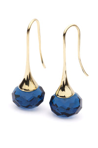 BLING EARRINGS - Royal Blue & Gold