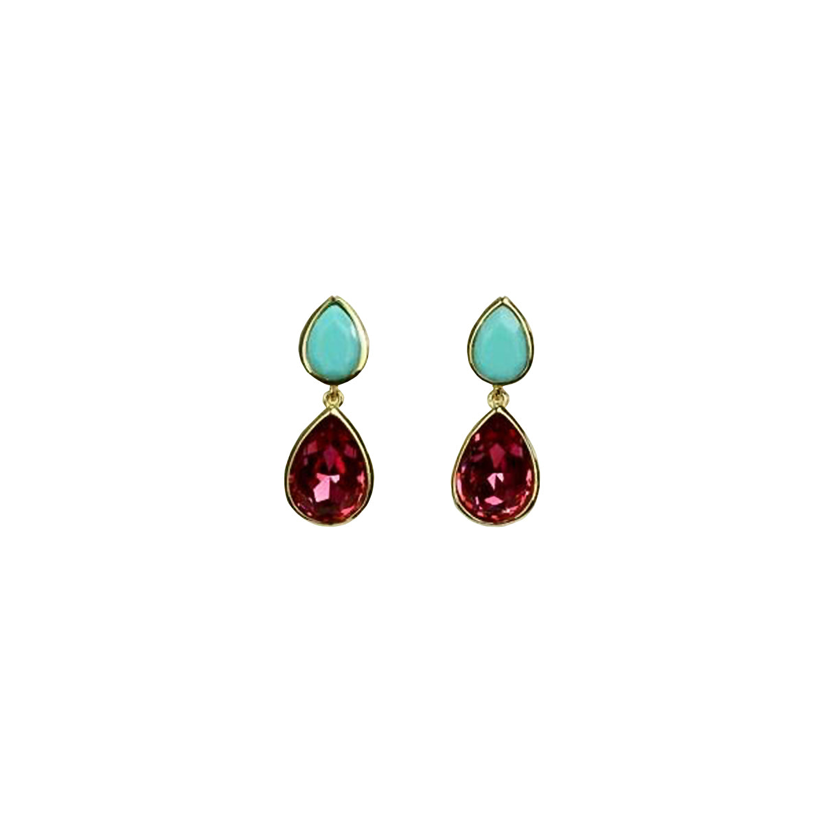BONNIE EARRINGS -TURQUOISE / PINK