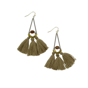 MOLLY FRINGE EARRINGS BROWN