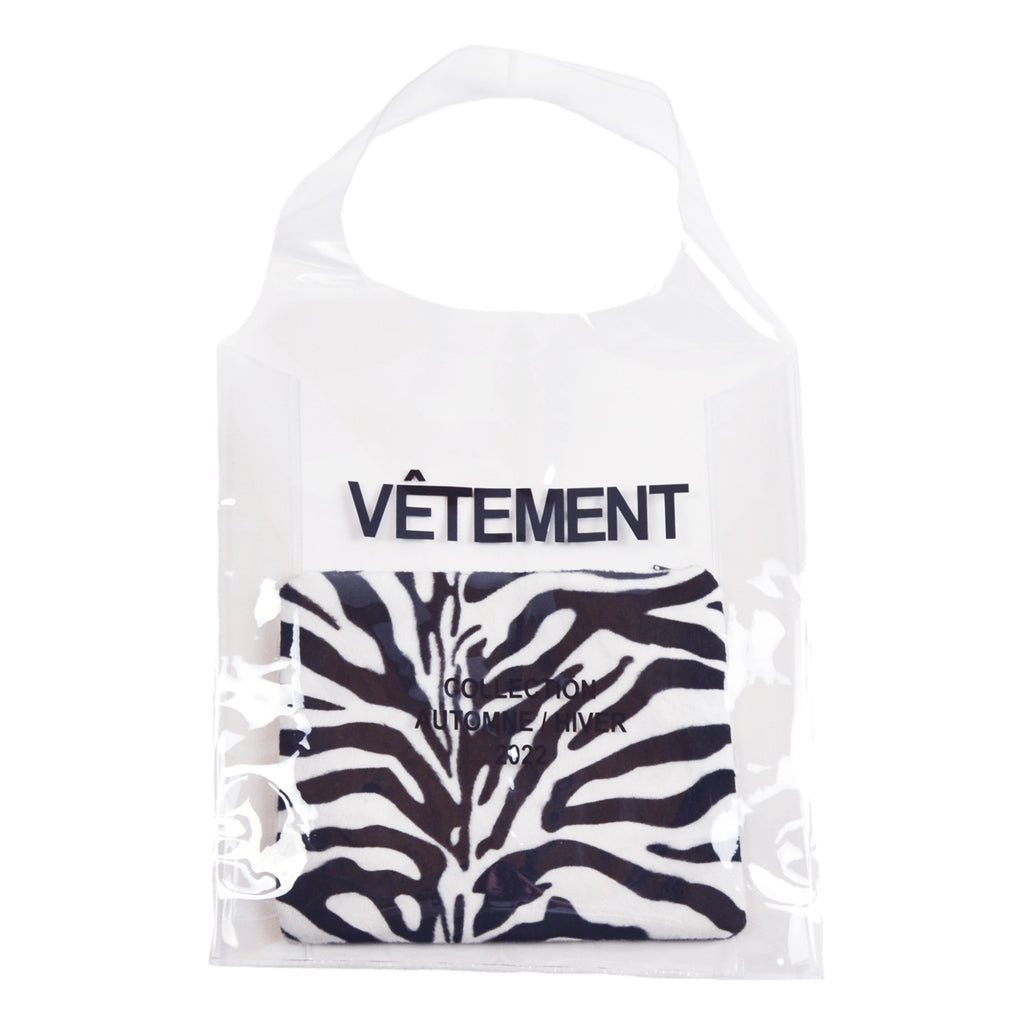 FrenchTote bag transparent, Zèbre