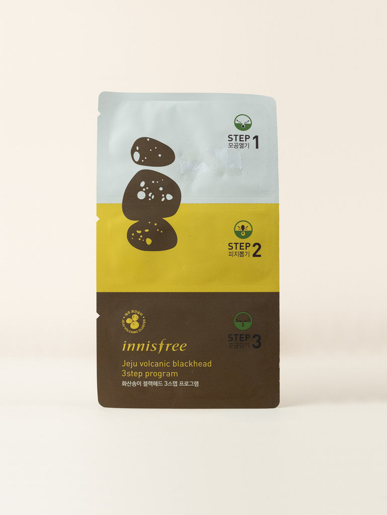 innisfree - Jeju Volcanic Blackhead 3-step Program (Sheet)