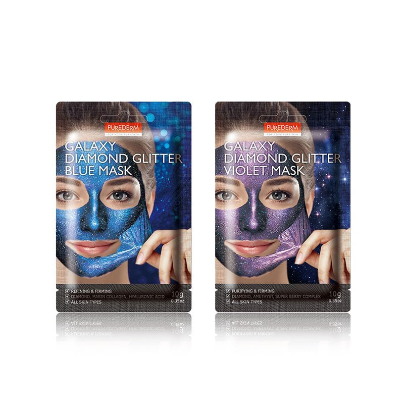 PUREDERM Galaxy Diamond Glitter Violet Mask 1pc