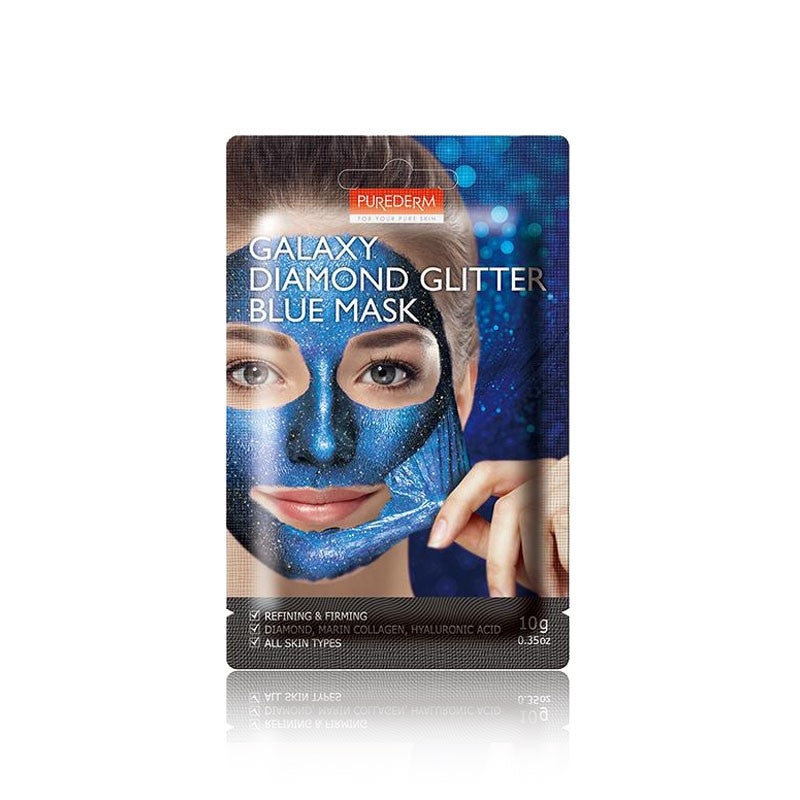 PUREDERM Galaxy Diamond Glitter Blue Mask 1pc