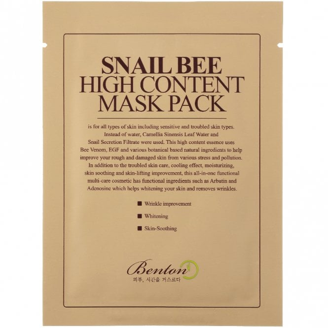 Benton - Snail Bee High Content Mask 1 pc