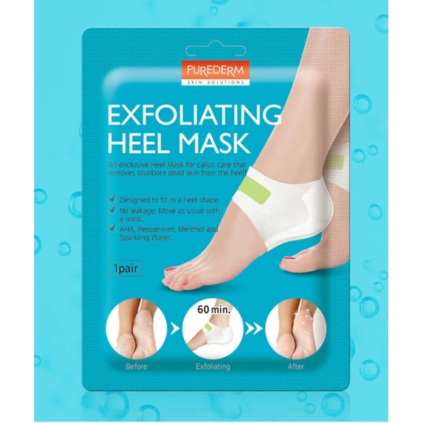 PUREDERM Exfoliating Heel Mask 1 pair