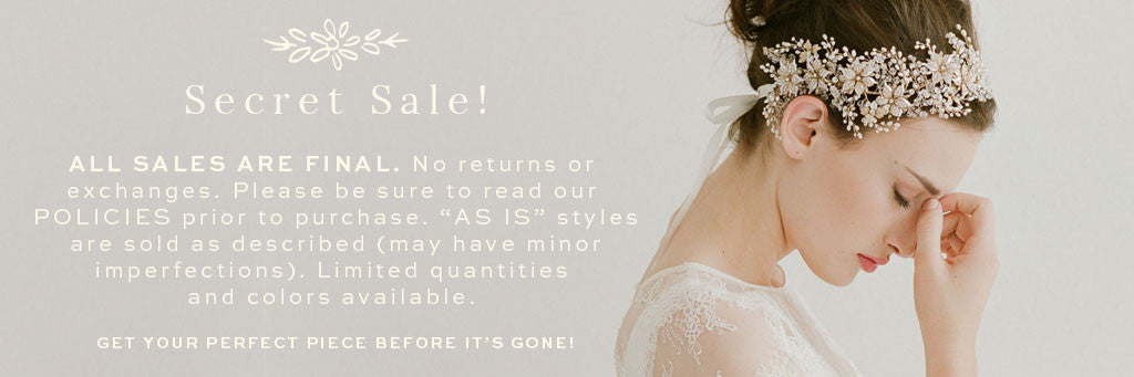 Secret sale :: Veils, headpieces, and sashes