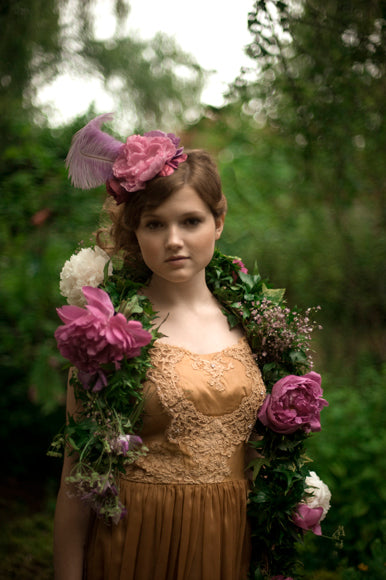 twigs & honey bridal mini hat