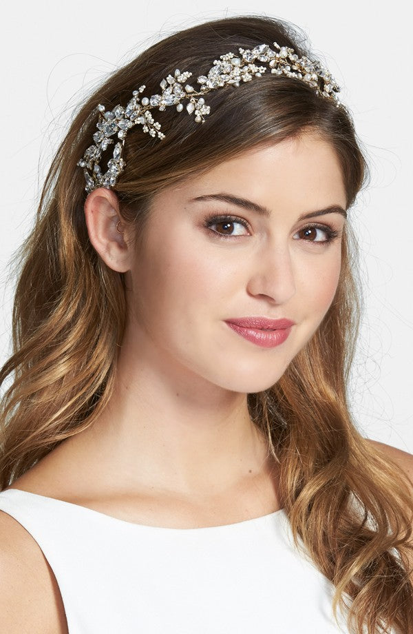 crystal dazzle swarovski crystal embellished headband, twigs and honey, nordstrom wedding suites, bridal headband
