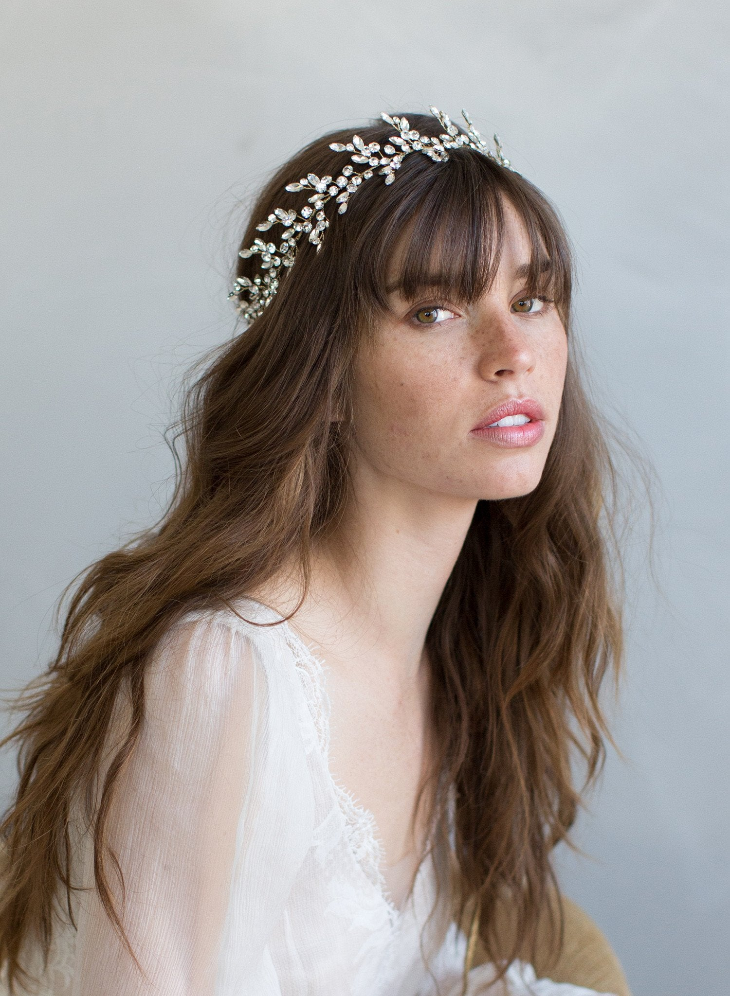 crystal tiara, modern headpiece, bridal accessories