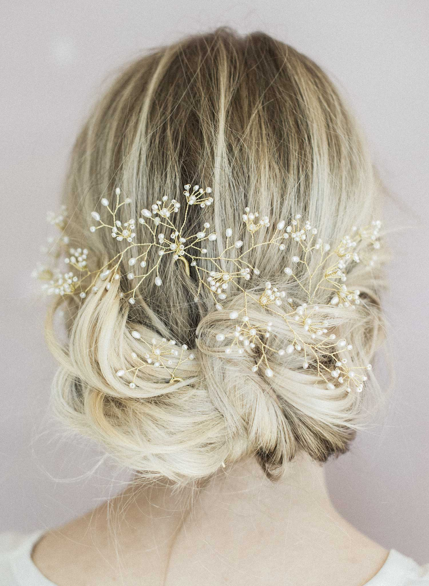 baby's breath hairpin, bridal accessory