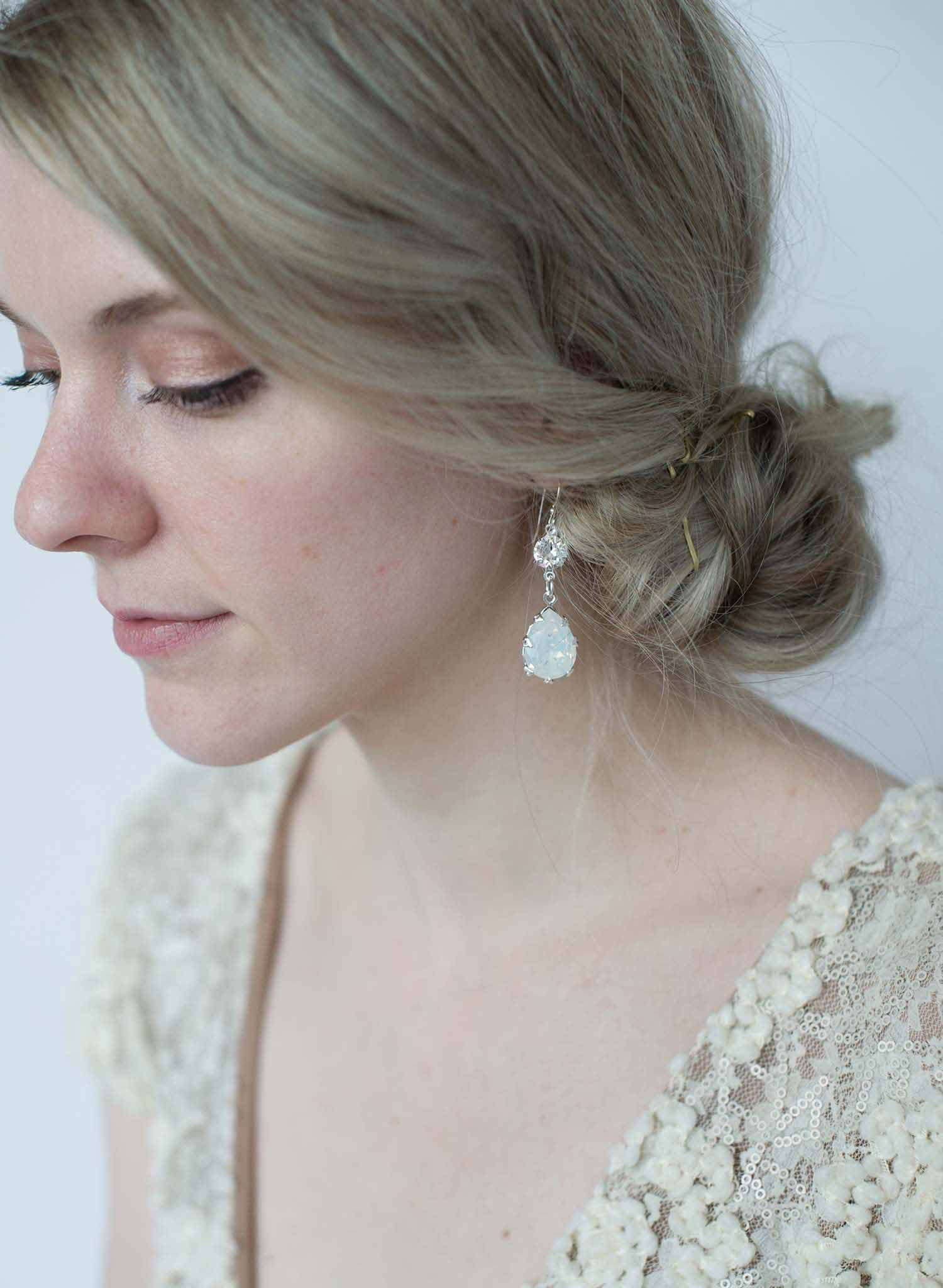 vintage inspired bridal earrings