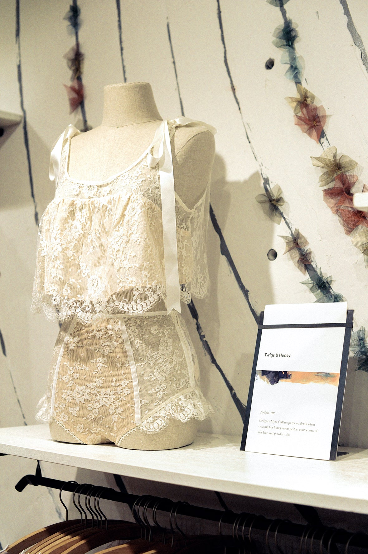 Twigs & Honey lingerie, Anthropologie, Bridal lingerie set, Portland Anthropologie, remodel