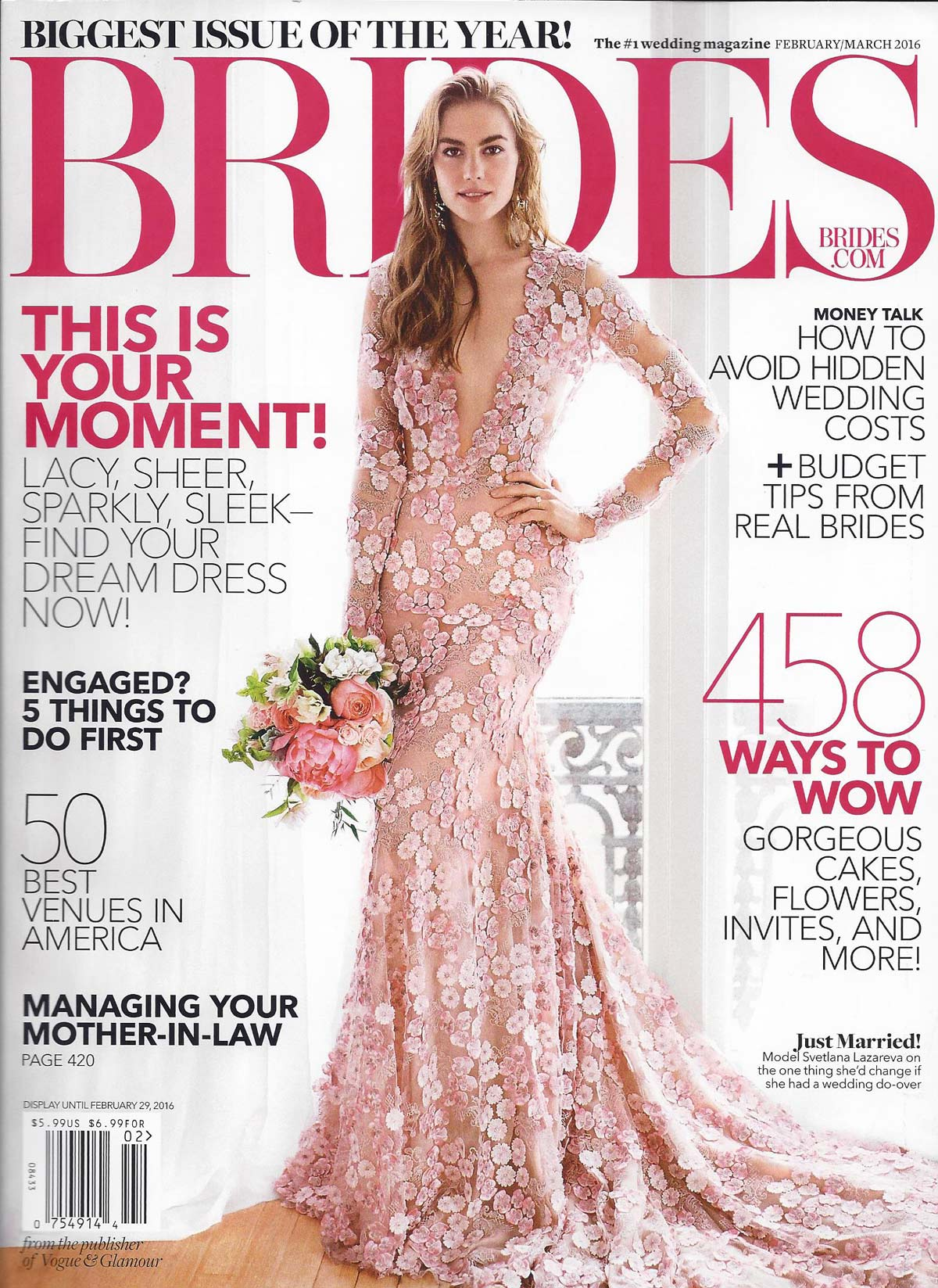 brides february march 2016 magazine, twigs and honey earrings