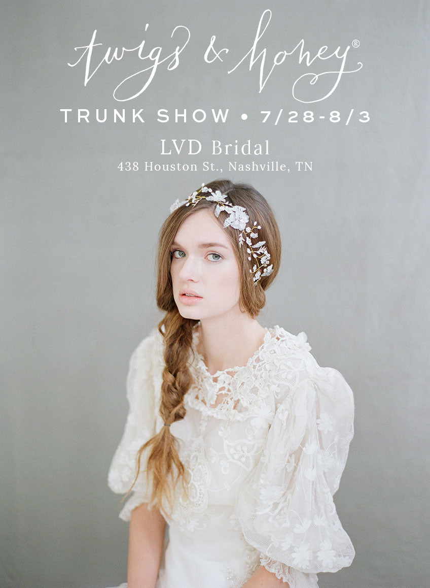 lvd bridal, twigs & honey trunk show