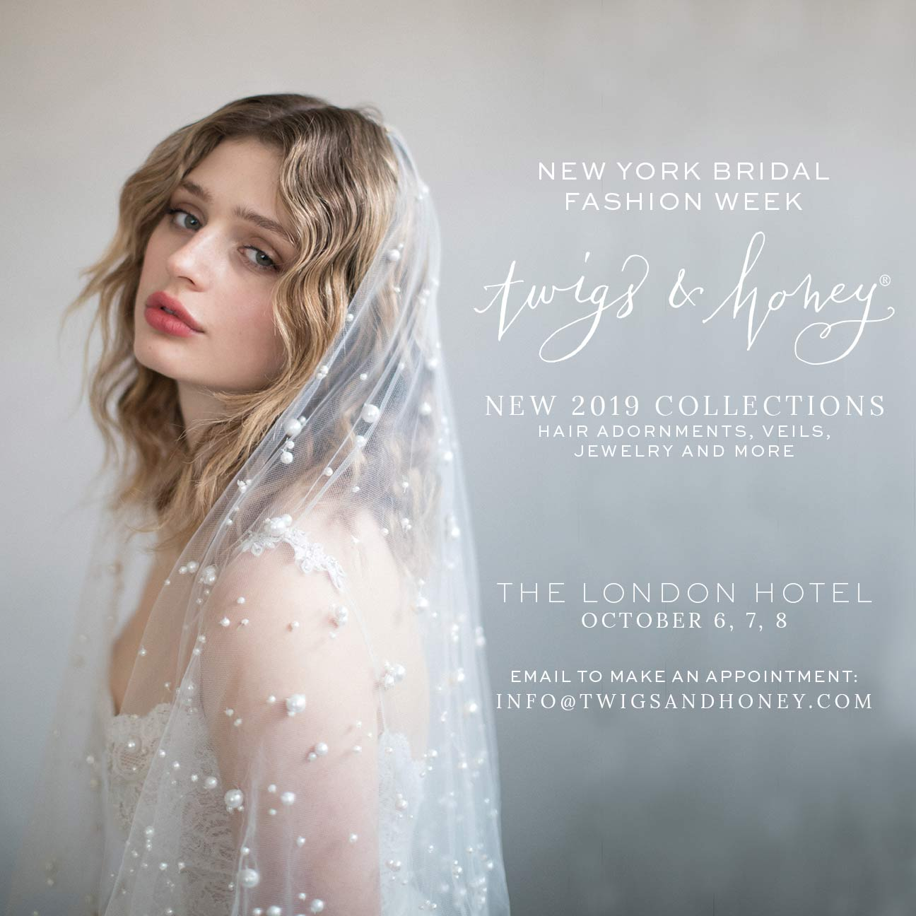 new york bridal market, nybfw, 2019, 2018, twigs and honey
