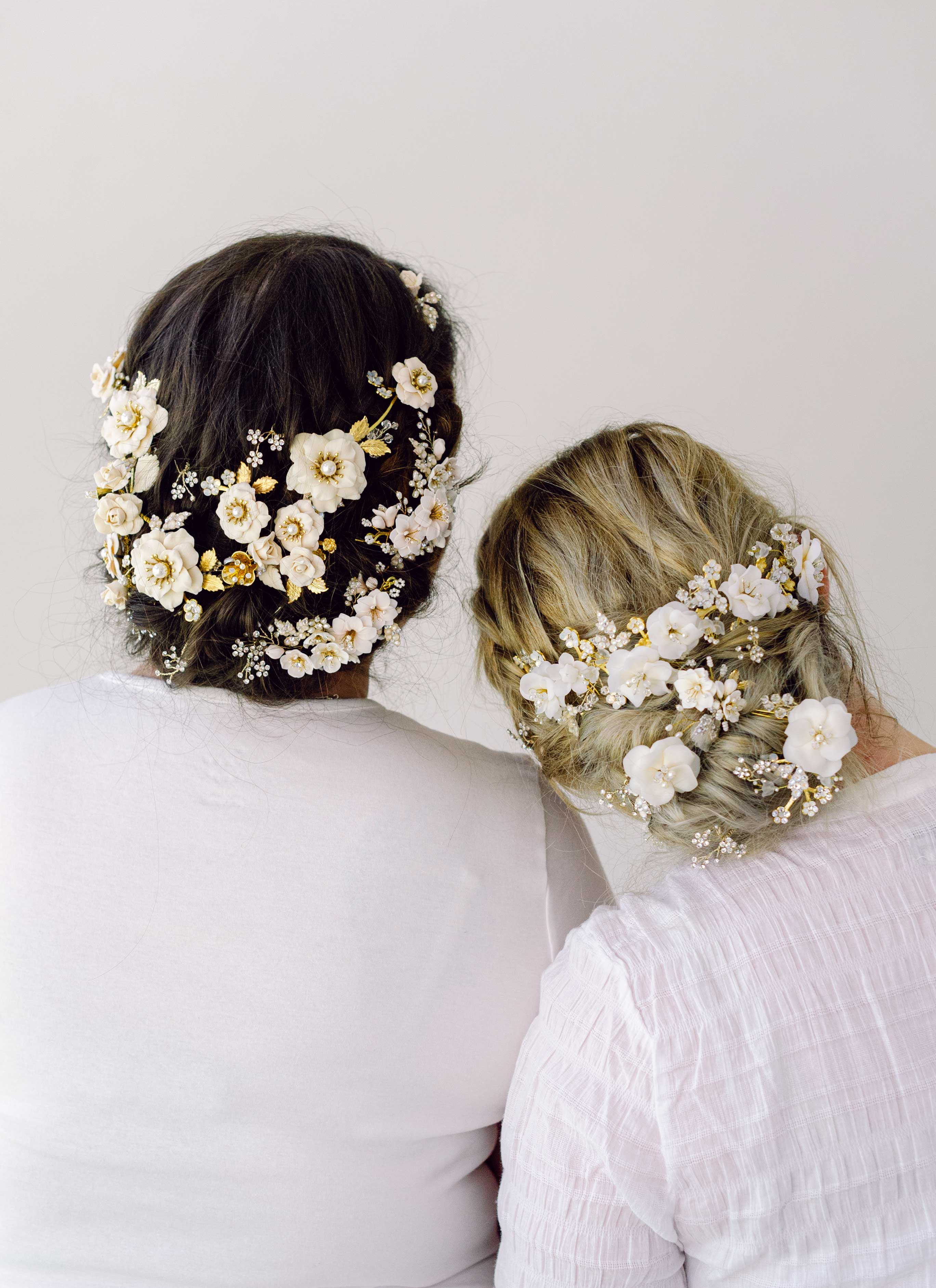 Beautiful handmade hair flowers by Twigs & Honey