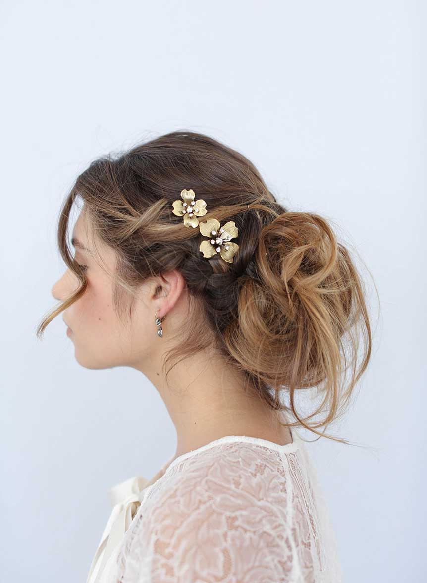 bridal hair pins, up do