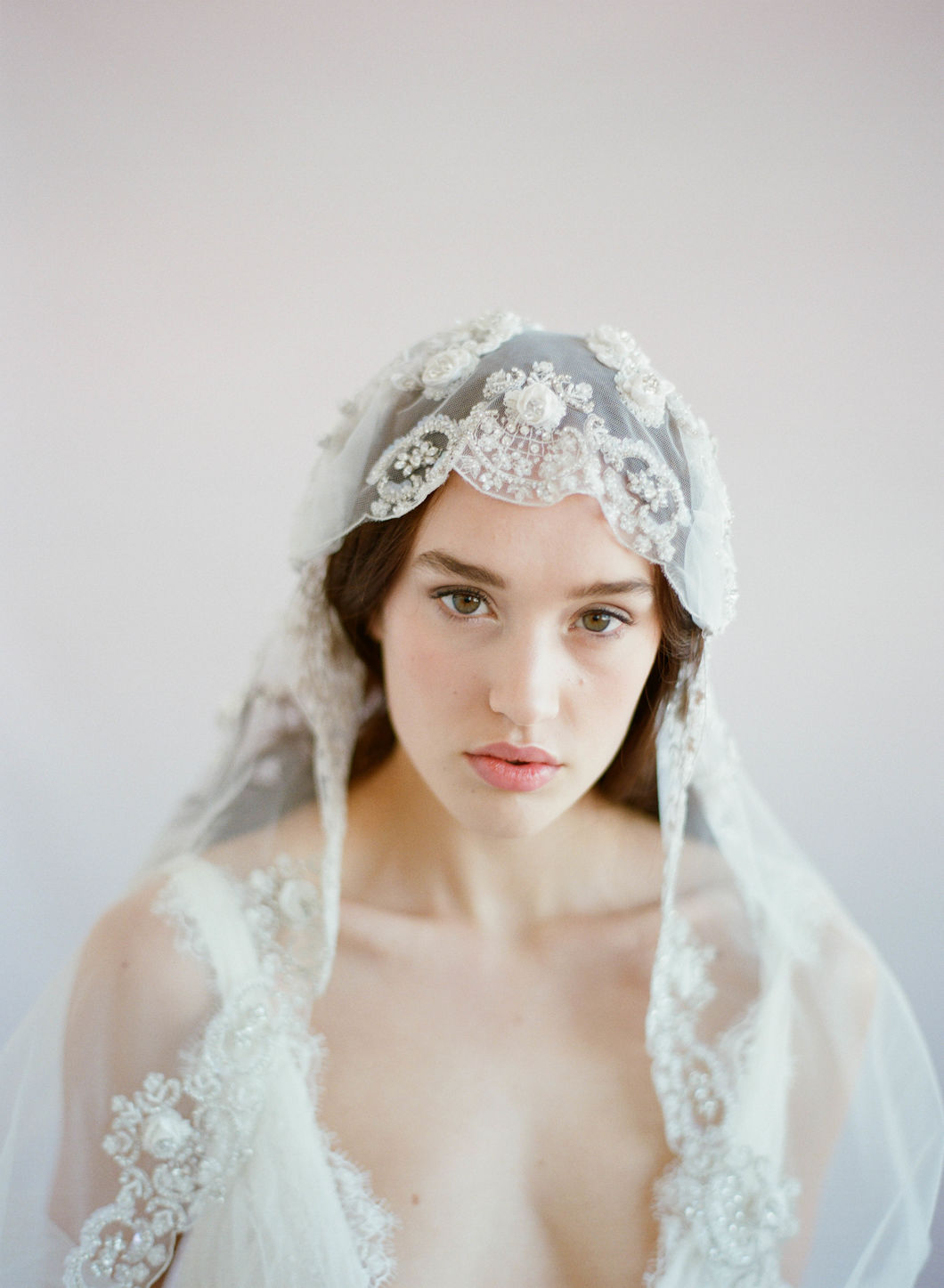 juliet bridal veil, embellished, twigs and honey
