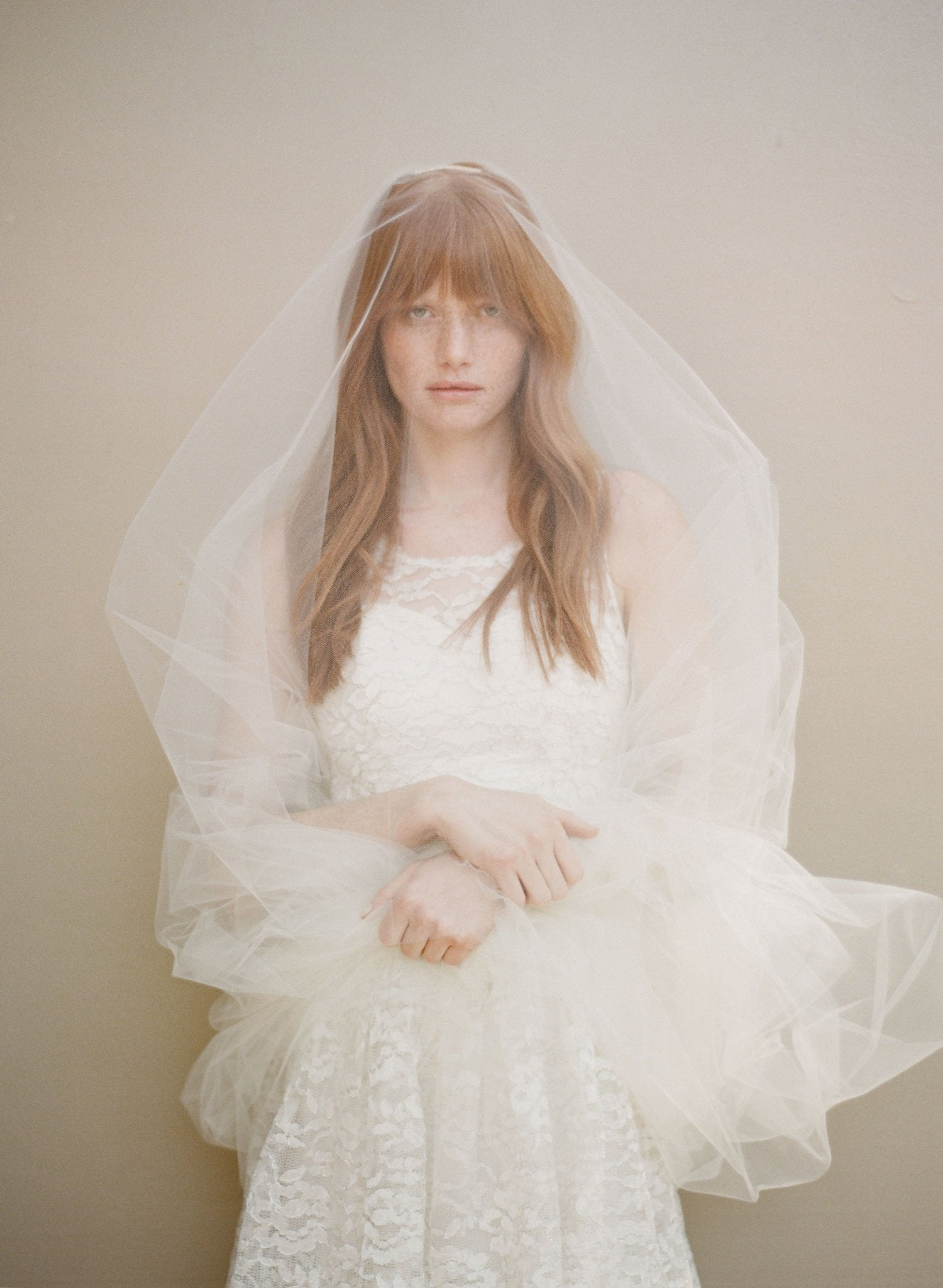 Simple cathedral veil, bridal veil by Twigs & Honey