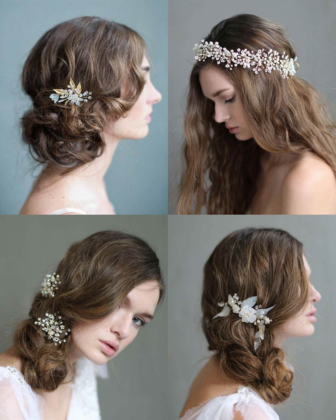 twigs & honey bridal headpieces, hair adornments, bridal hair vine