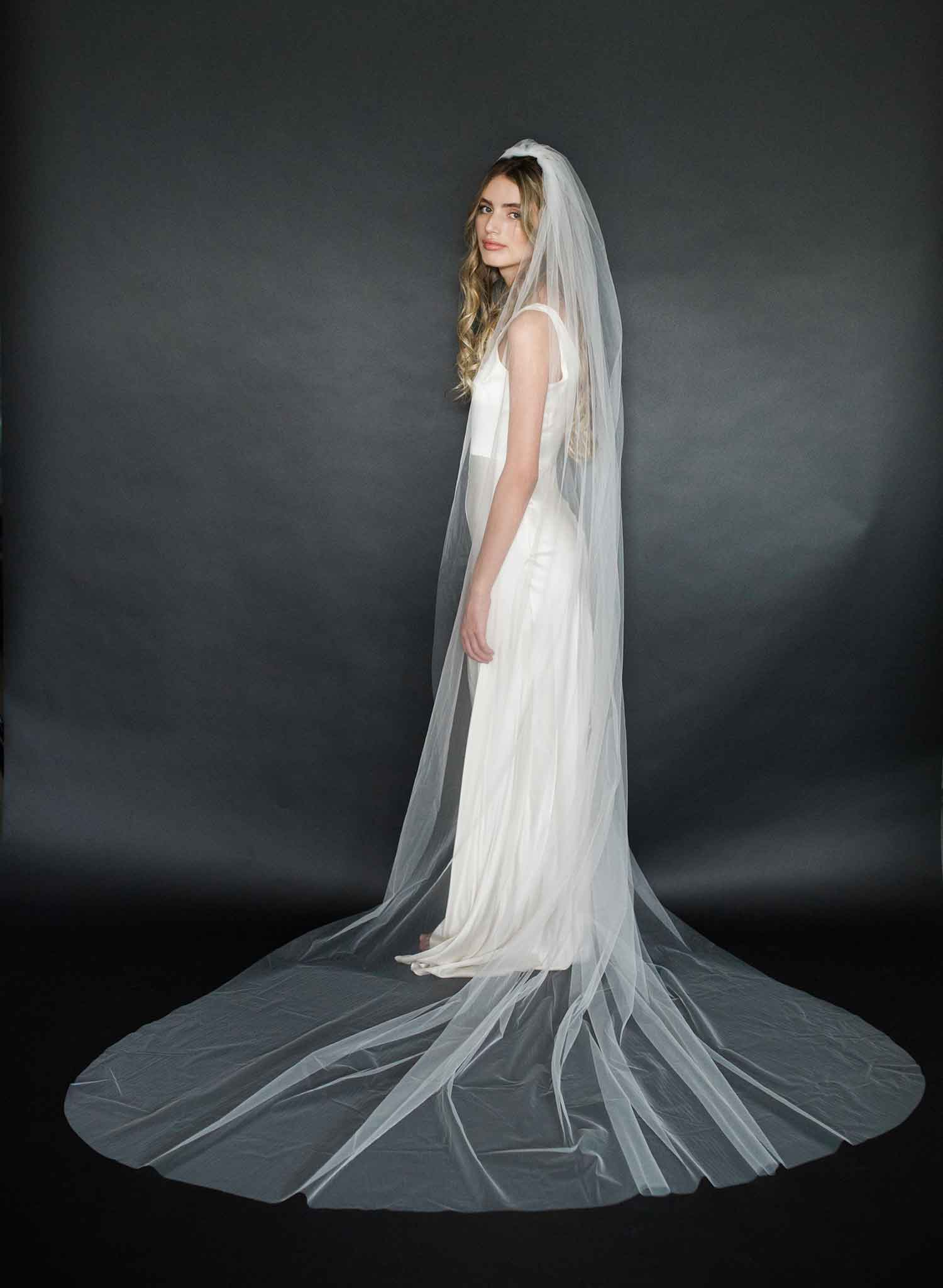 Whisper tulle fantasy train veil - Style #2009