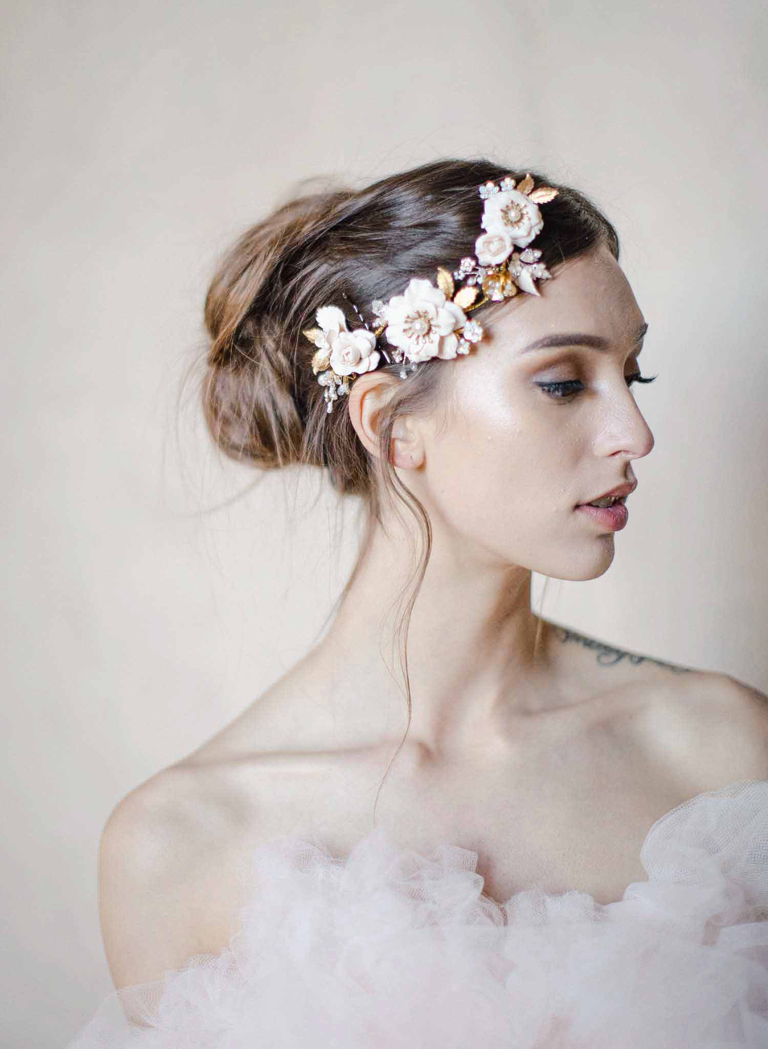 Climbing roses headpiece - Style #2017