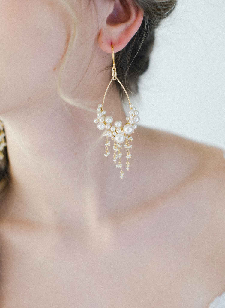 Dripping with pearls teardrop earrings - Style #2030
