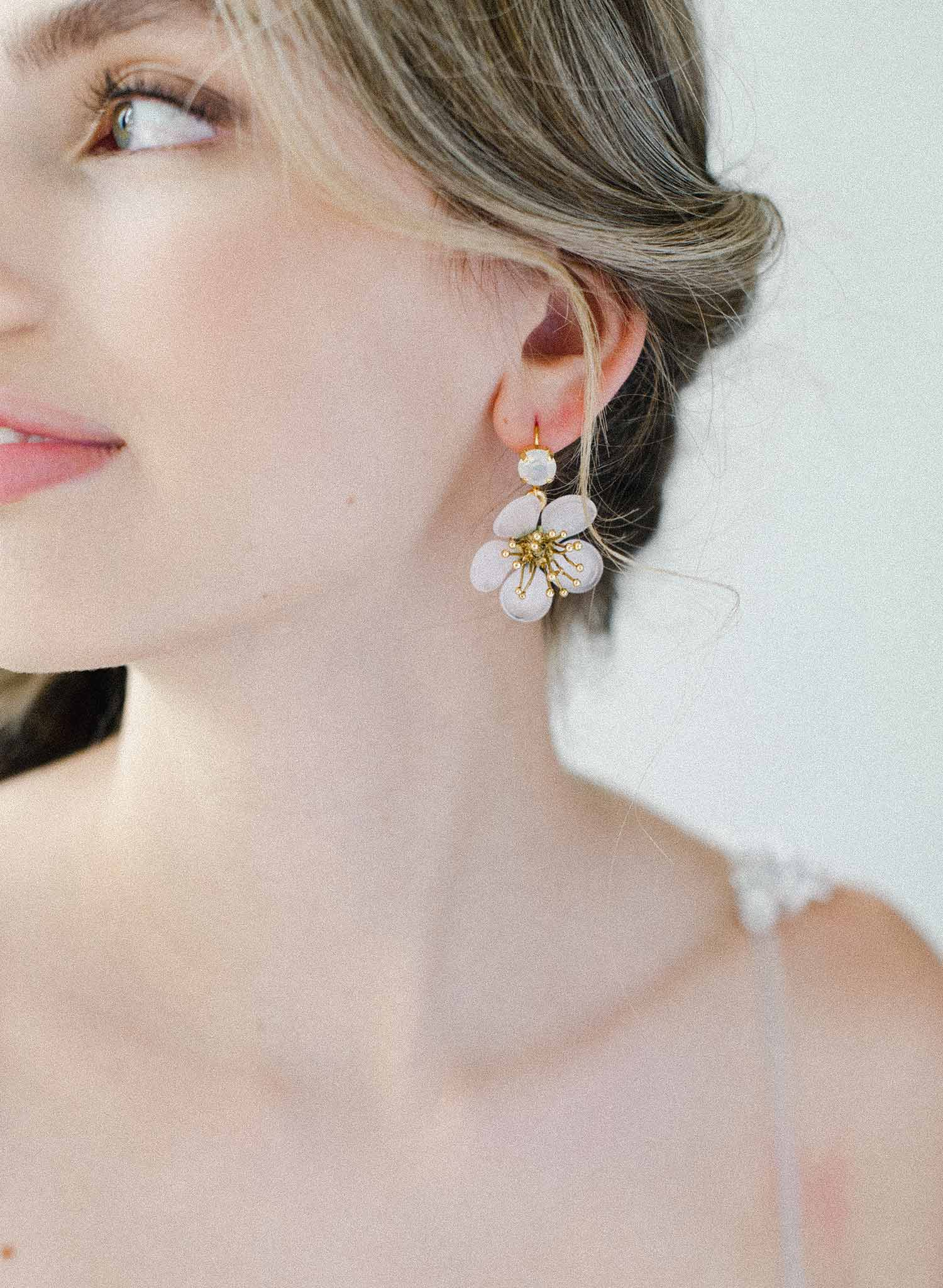 Plum blossoms dainty earrings - Style #2033