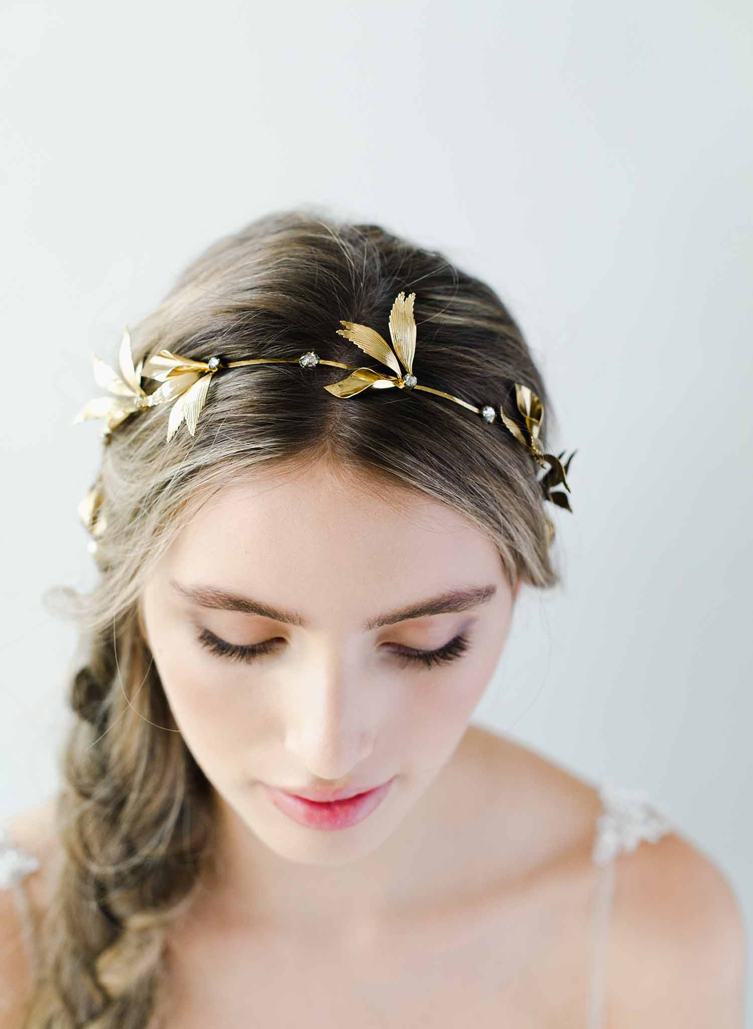 Gilded grecian wings headpiece - Style #2043