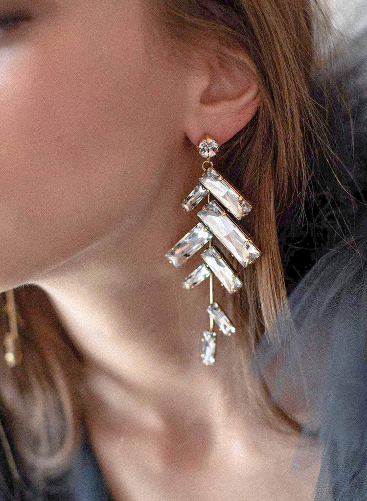 Crystal confetti earrings - Style #2070