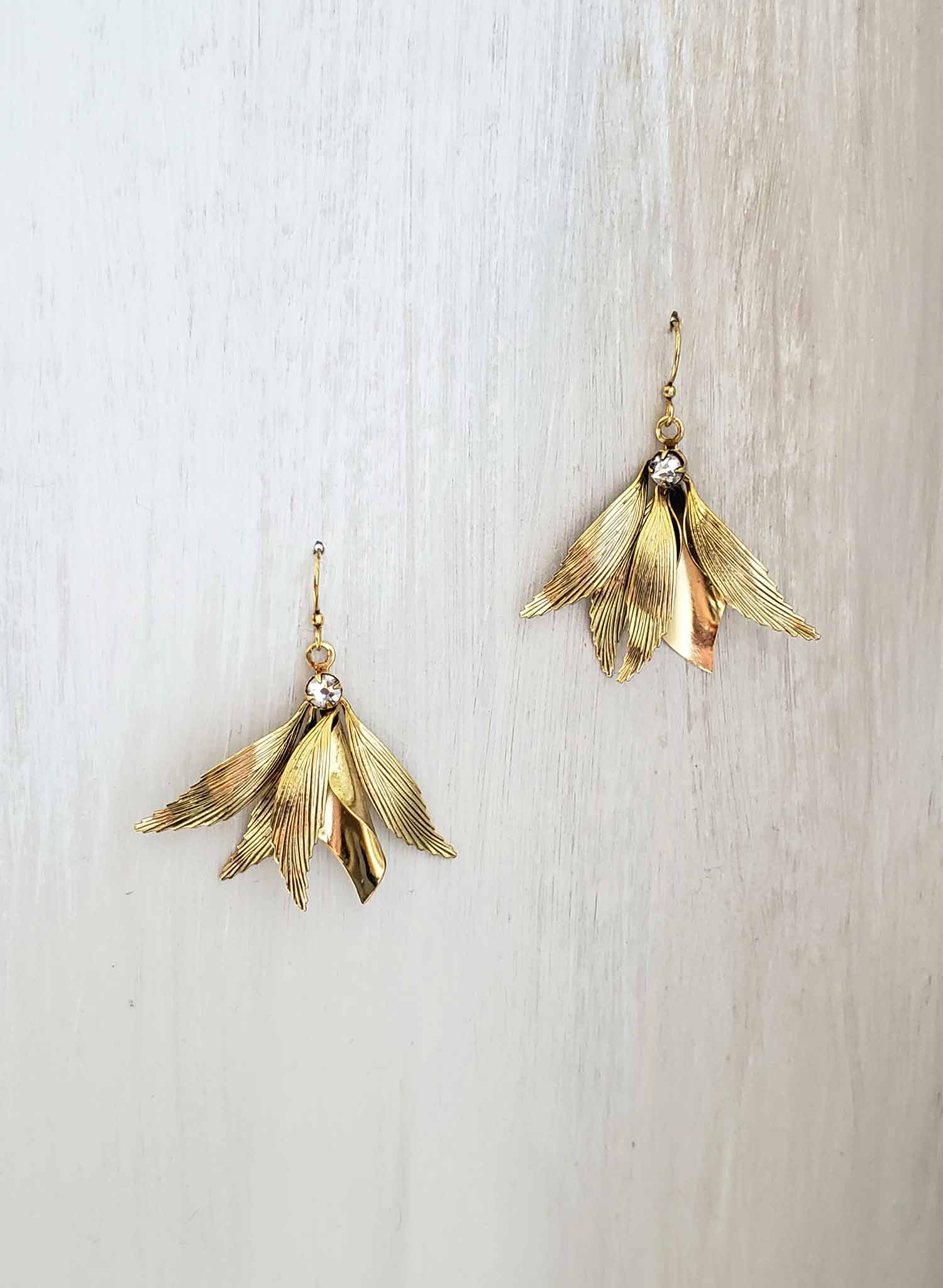 Grecian dainty wing earrings - Style #2073
