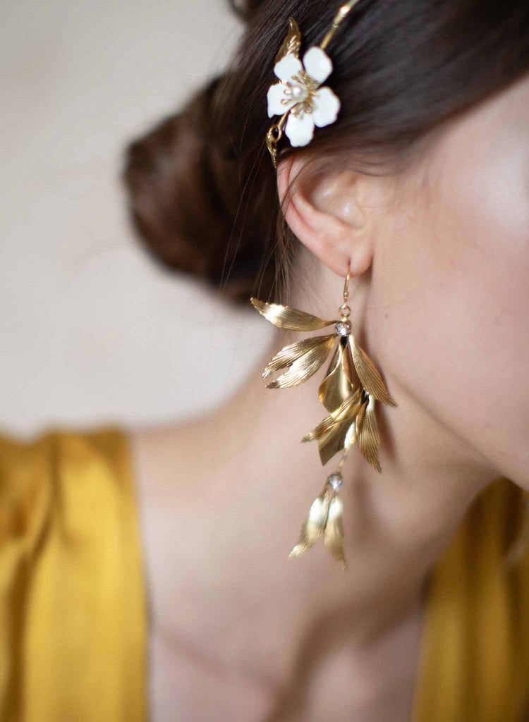 Grecian high drama wing earrings - Style #2074
