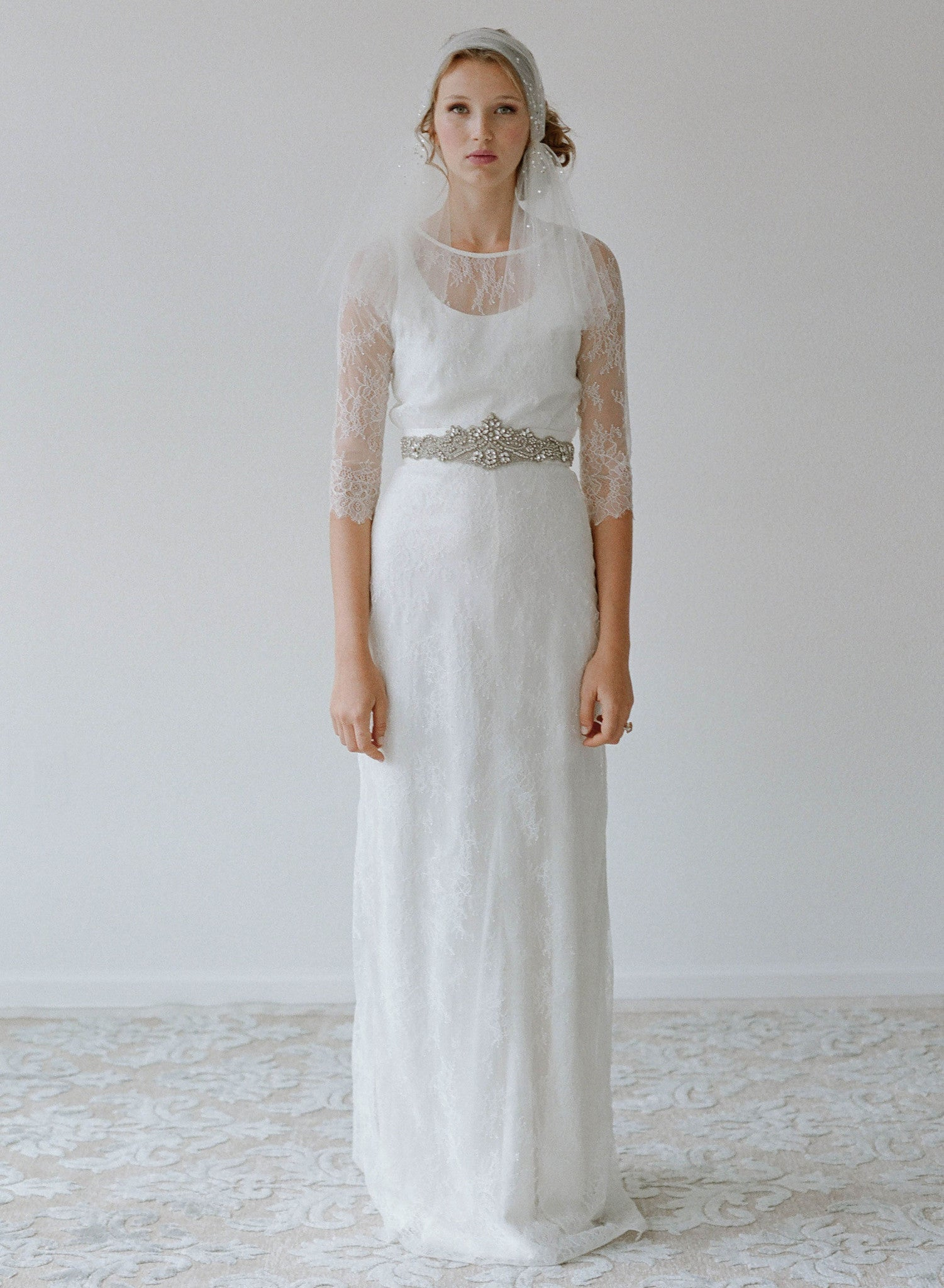 Goldfinch - Delicate lace A-line skirt - Style # TH2121-2