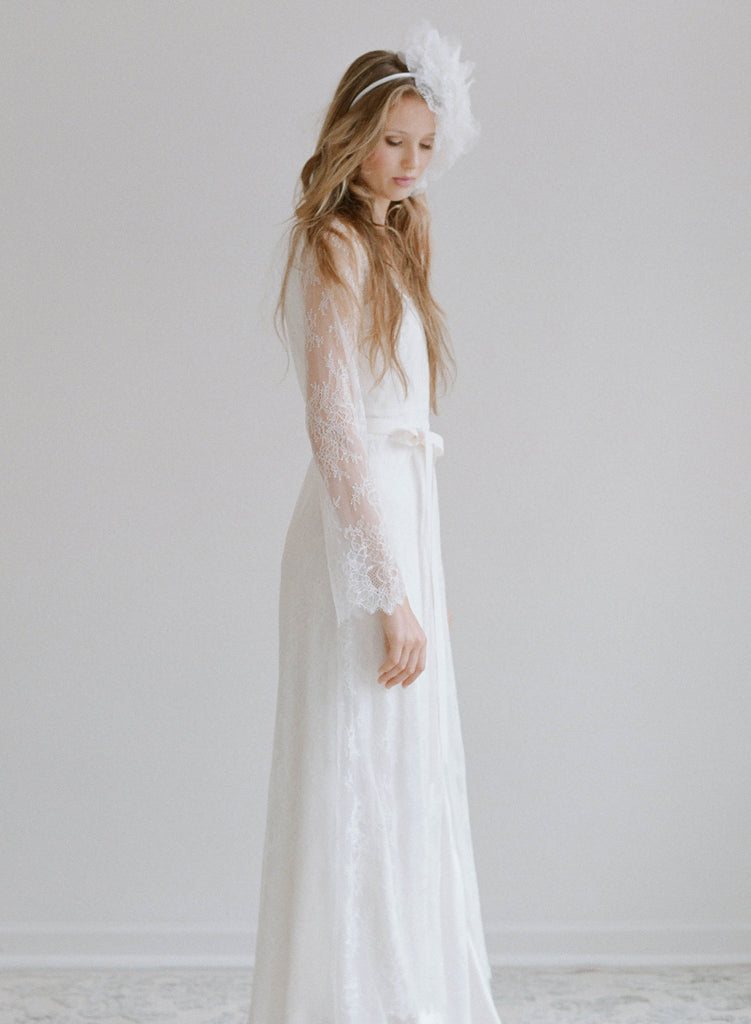 Swallow - Lace long robe - Style # TH 2128