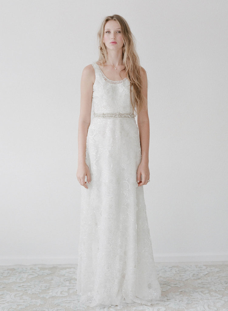Martin - Sparkling rose lace slip dress - Style # TH 2133