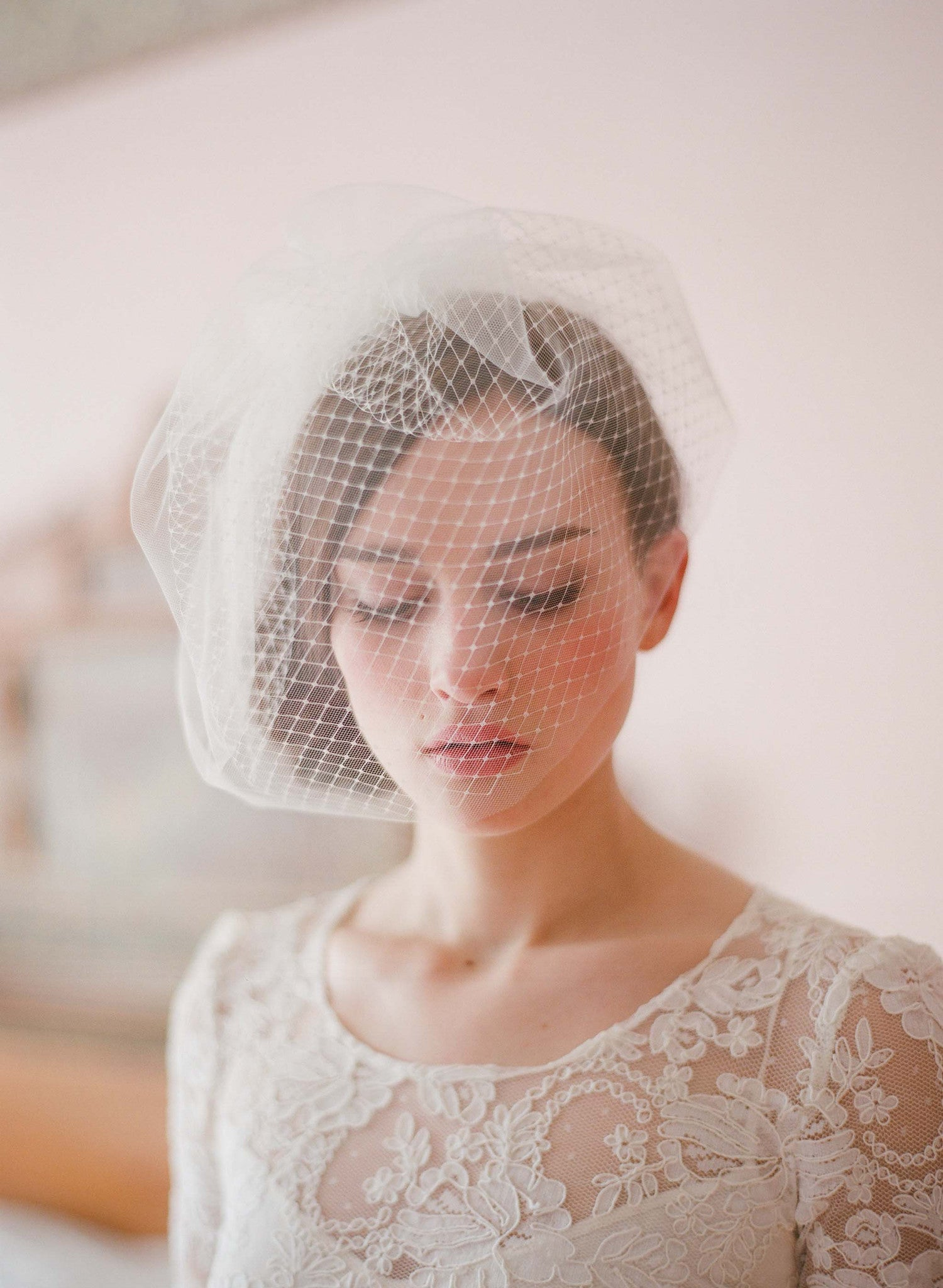 Double layer full birdcage veil - Style # 213