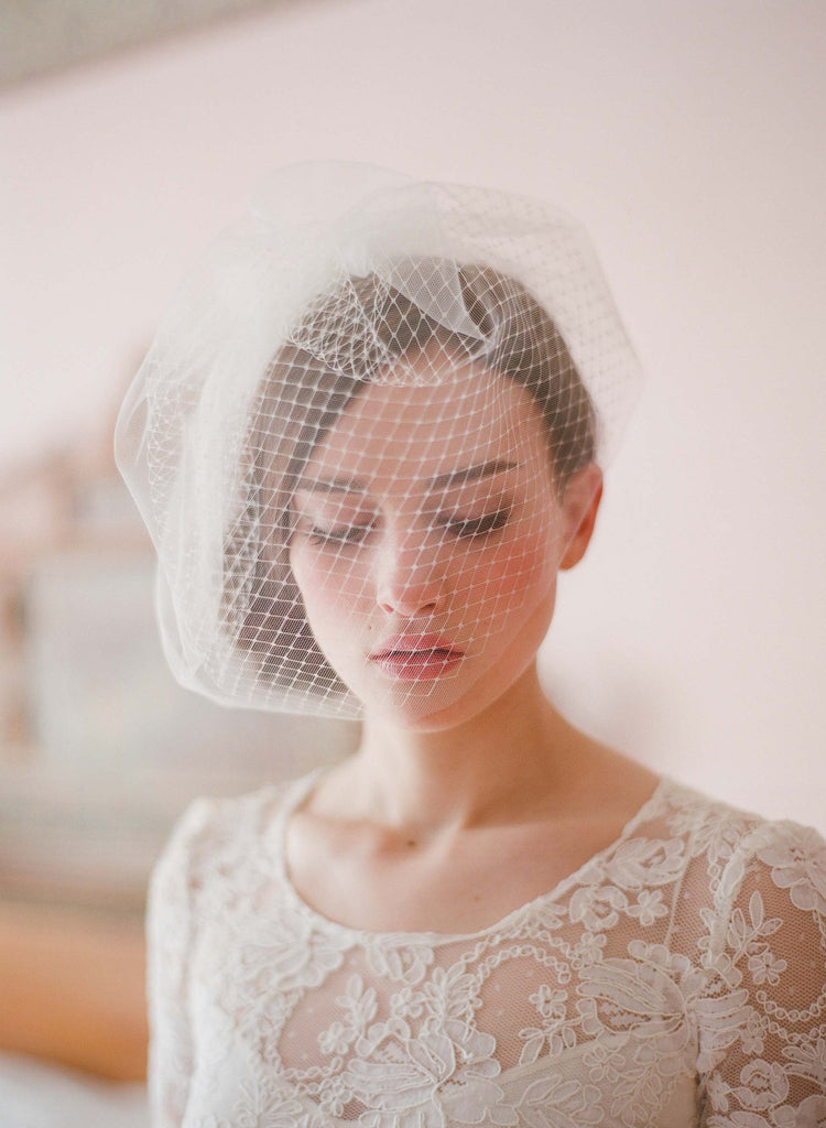 bridal birdcage veil, wedding veil, vintage veil, twigs and honey