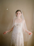 bridal veil with blusher, twigs & honey, illusion tulle