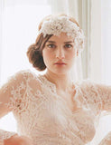 Oversized rhinestone and lace headpiece - Style #247