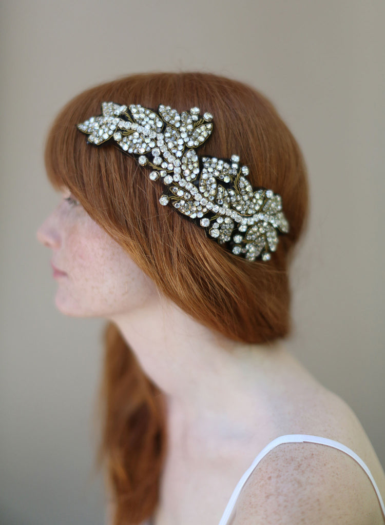 Antique crystal headwrap - Style # 330