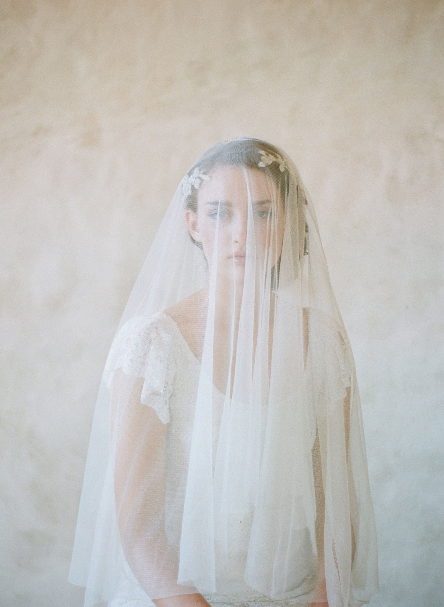 Lux tulle cathedral, chapel, fingertip length veil - Style #357lux