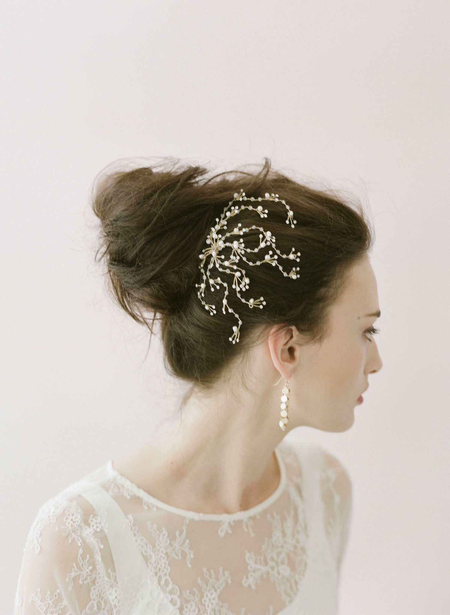Br Bridal Headpieces Twigs And Honey -  dainty crystal spray comb style 402