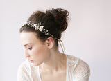 Beaded gold blossom hair vine - Style # 409