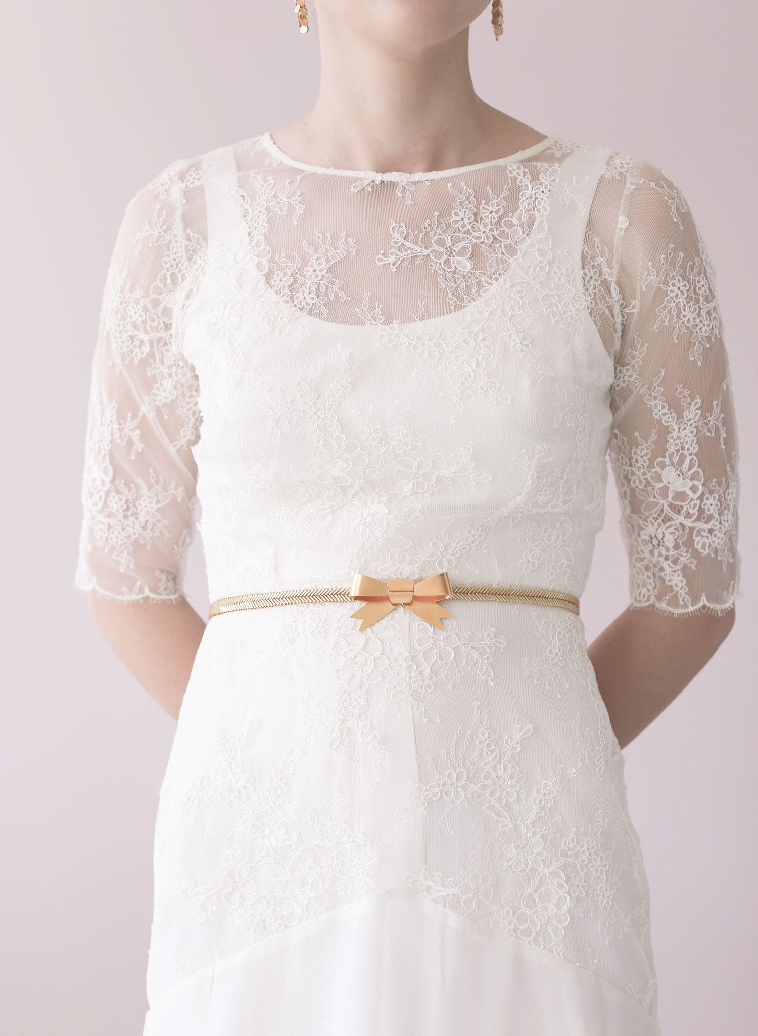 Gilded bow and beaded belt - Style # 448