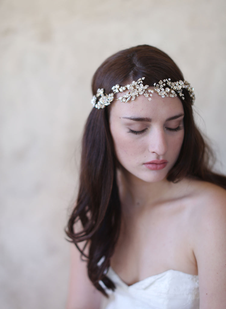 sparkling headband, bridal headpiece, special occasion crystal headband, twigs and honey