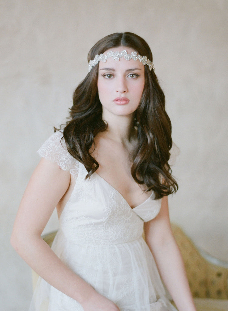 whimsical starry headband, rhinestones crystals headpiece, twigs and honey
