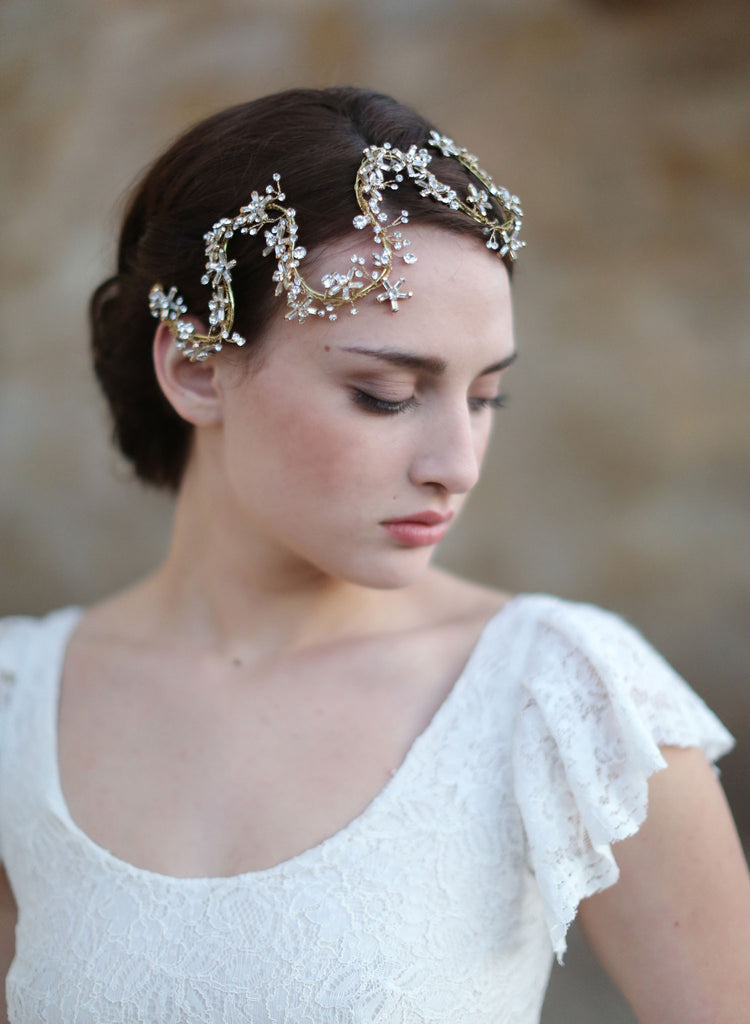 star headband, bridal headpiece, starry crystal headband, twigs and honey